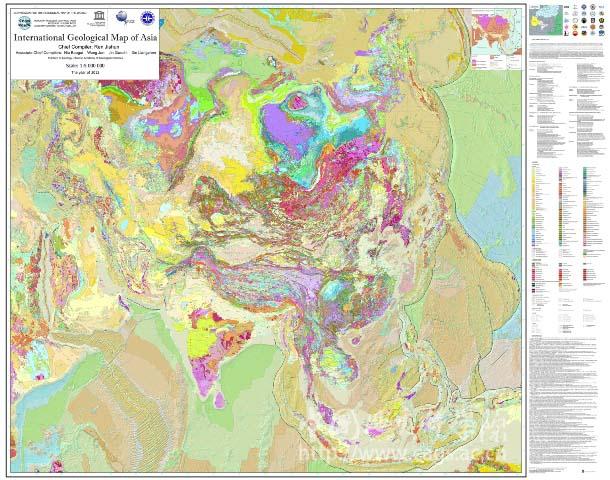 亚洲一?_1比500万国际亚洲地质图