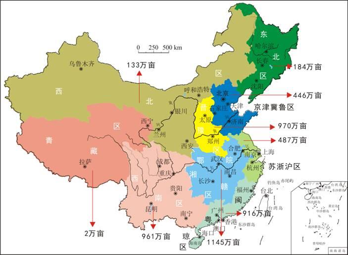国绿色富硒耕地分布图-中国耕地地球化学调查发现5244万亩富硒耕地