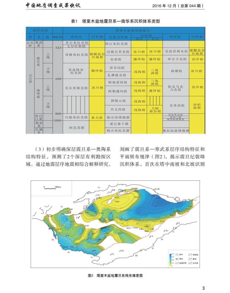 塔里木盆地地震剖面拼接处理解释取得新认识