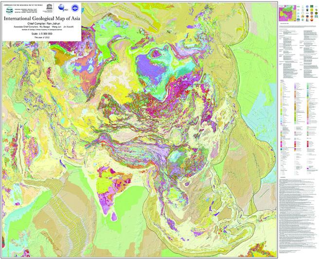 亚洲地囹�9�%9�._我国科学家领衔编制的1:500万亚洲地质图
